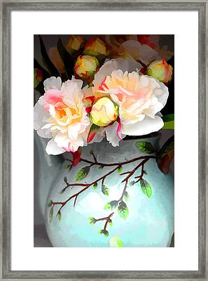 Buds In Vase Framed Print