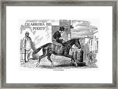 Buenos Aires: Milkman, 1858 Framed Print by Granger
