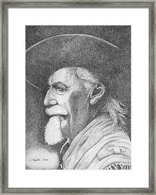 Buffalo Bill Cody Framed Print by Lawrence Tripoli