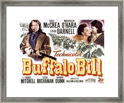 Buffalo Bill, Joel Mccrea, Maureen Framed Print