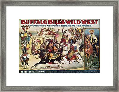 Buffalo Bill: Poster, 1899 Framed Print by Granger