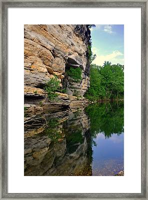 Buffalo Bluff Reflections Framed Print by Marty Koch
