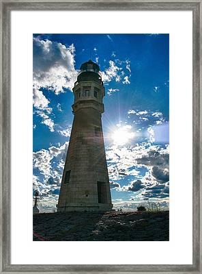 Buffalo Lighthouse 15717c Framed Print by Guy Whiteley