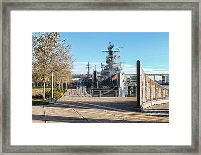 Buffalo Naval And Military Park Framed Print by Peter Chilelli