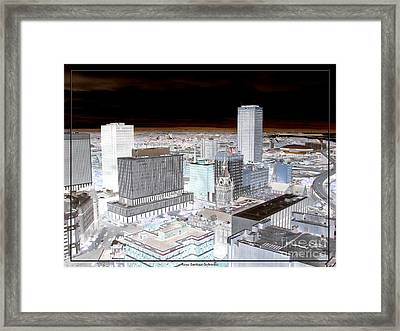 Buffalo New York Aerial View Inverted Effect Framed Print by Rose Santuci-Sofranko