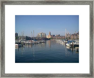 Framed Print featuring the photograph Buffalo New York  by Darleen Stry
