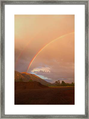 Framed Print featuring the photograph Buffalo Rainbow by Tom Kelly