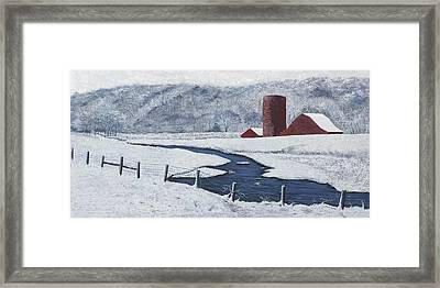 Buffalo River Valley In Snow Framed Print by Garry McMichael