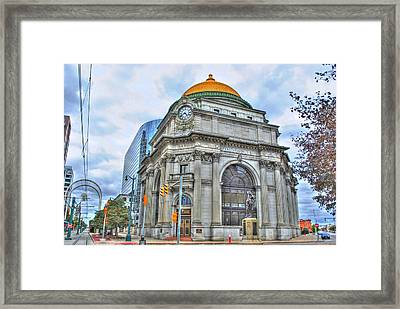 Framed Print featuring the photograph Buffalo Savings Bank  Goldome  M And T Bank Branch by Michael Frank Jr