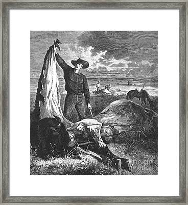 Buffalo Skinner, 1874 Framed Print by Photo Researchers