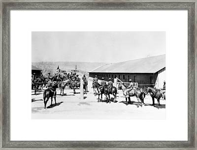 Buffalo Soldiers Of The Tenth U.s Framed Print