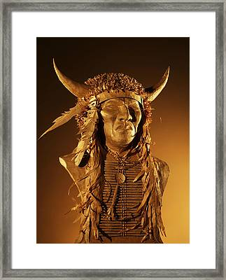 Buffalo Warrior Framed Print by Monte Burzynski