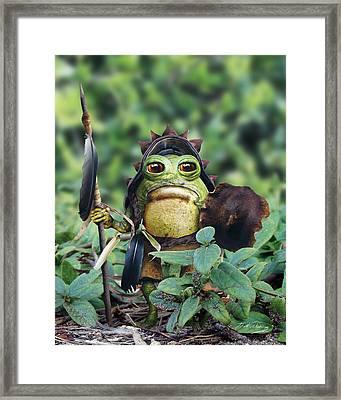Bufo Warrior Goblin Framed Print by Bill Fleming