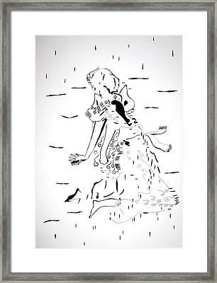 Framed Print featuring the drawing Buganda Kiganda Dance - Uganda by Gloria Ssali