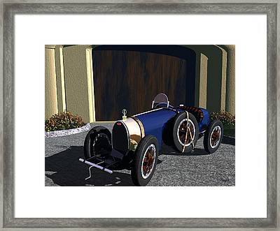 Framed Print featuring the digital art Bugatti by John Pangia