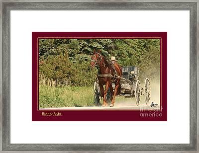 Buggy Ride Framed Print