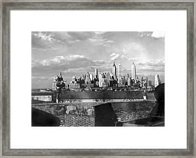Buglers On Governors Island Framed Print