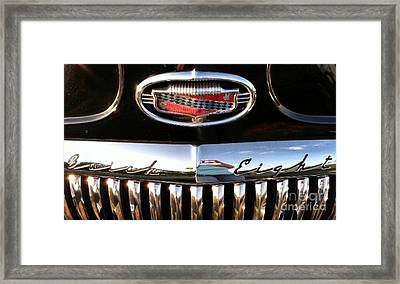 Framed Print featuring the photograph Buick 1952 Front Grill by Elizabeth Coats