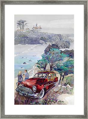 Buick At Battery Point Framed Print by Mike Hill