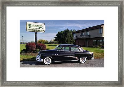 Buick Eight 1952 Framed Print by Elizabeth Coats