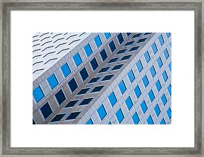 Building Abstract In Long Beach Framed Print