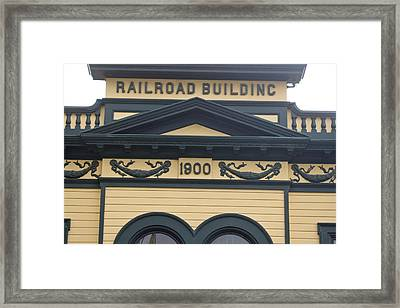 Building At Klondike Gold Rush National Framed Print by Michael Melford