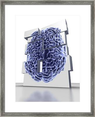 Building Blocks With Brain, Artwork Framed Print by Pasieka