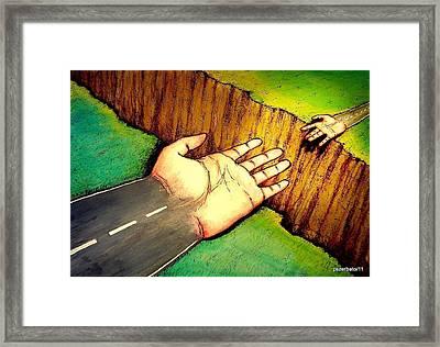 Building Bridges Framed Print by Paulo Zerbato
