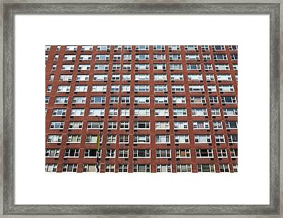 Building Facade Framed Print by Caspar Benson