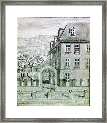 Building Framed Print by Kostas Dendrinos