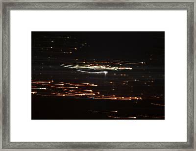 Building Lights Framed Print by Naomi Berhane