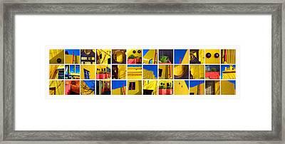 Building Mosaic  Framed Print by Mauro Celotti