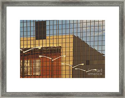 Building Reflected In Glass Building Windows Framed Print by Thom Gourley/Flatbread Images, LLC