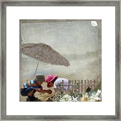 Building Sandcastles Framed Print by Joanne Kocwin
