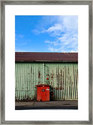 Framed Print featuring the photograph Building Series - Red Shack by Kathleen Grace