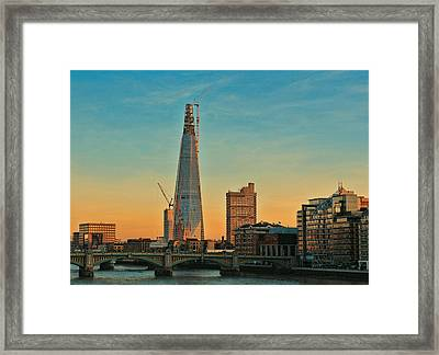 Building Shard Framed Print