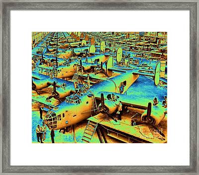 Building The B24 Fleet 1943 Framed Print by Padre Art