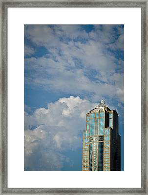 Framed Print featuring the photograph Building With Its Head In The Clouds by Ronda Broatch