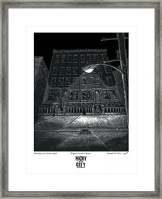 Building With Street Light Framed Print