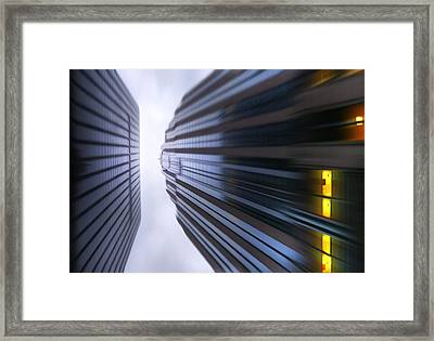 Buildings Abstract Framed Print by Svetlana Sewell