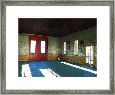 Buildings And Light Framed Print by Kimberly Mackowski