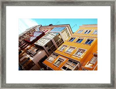 Buildings - La Coruna Spain Framed Print by Mary Machare