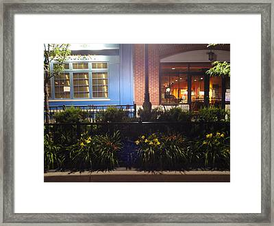 Buildings Of Blue And Brick Framed Print by Guy Ricketts