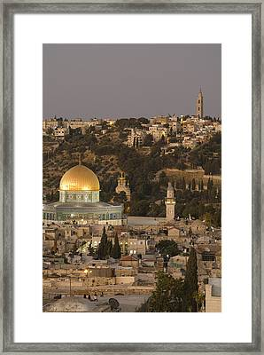 Built Atop The Earlier Location Framed Print by Richard Nowitz