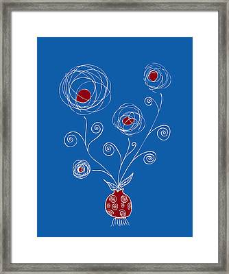 Bulb Flower Framed Print