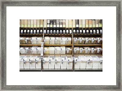 Bulk Foods And Spices Framed Print