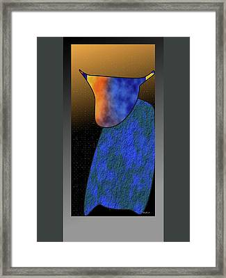 Framed Print featuring the digital art Bull by Asok Mukhopadhyay