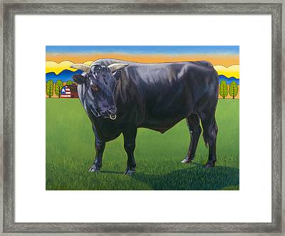 Bull Market Framed Print by Stacey Neumiller