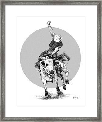 Bull Ridin' Framed Print