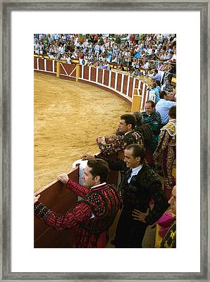 Bull Ring Arena With Toreadors Framed Print by Perry Van Munster